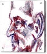 Old Man Profile  Acrylic Print