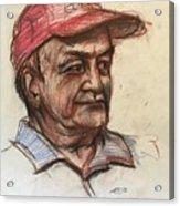 Old Man With Cap Acrylic Print