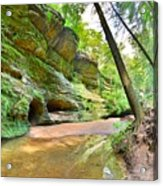 Old Man's Gorge Trail And Caves Hocking Hills Ohio Acrylic Print