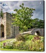 Old Medieval Bridge At Warkworth Acrylic Print