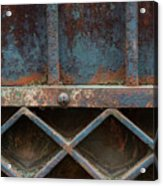 Old Metal Gate Detail Acrylic Print