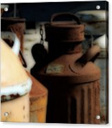 Old Milk Cans Acrylic Print