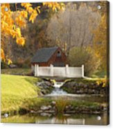 Old Mill In Autumn Acrylic Print