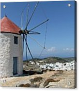 Old Mill In Greece Acrylic Print