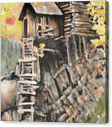 Old Mill In The Rockies Acrylic Print