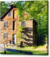 Old Mill In Warm Summer Afternoon Light Acrylic Print