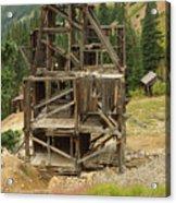 Old Mining Equipment Acrylic Print