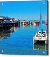 Old Monterey Wharf Acrylic Print