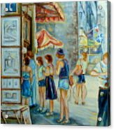 Old Montreal Street Scene Acrylic Print