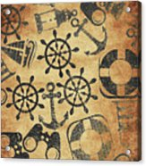 Old Nautical Parchment Acrylic Print