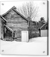 Old New England Barns In Winter Acrylic Print