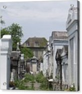 Old New Orleans Cemetery - The Big House  Acrylic Print