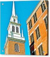 Old North Church Tower In  Boston-massachusetts Acrylic Print