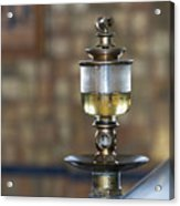 Old Oil Sight Glass In Industry Acrylic Print