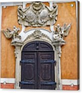 Old Ornate Door At The Cesky Krumlov Castle At Cesky Krumlov In The Czech Republic Acrylic Print