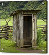 Old Outhouse On A Farm In The Smokey Mountains Acrylic Print by Randall Nyhof