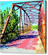 Old Ozark Trail Bridge Acrylic Print