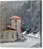 Old Paint Mill Winter Time Acrylic Print