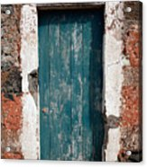 Old Painted Door Acrylic Print