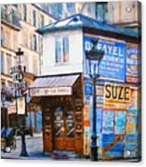 Old Paris Cafe Acrylic Print