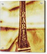 Old Paris Decor Acrylic Print