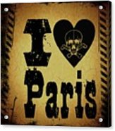 Old Paris Acrylic Print