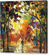 Old Park 3 - Palette Knife Oil Painting On Canvas By Leonid Afremov Acrylic Print