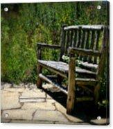 Old Park Bench Acrylic Print