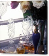 Old Perfume Bottles Acrylic Print by Garry Gay
