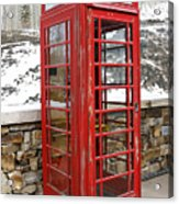 Old Phone Booth Acrylic Print