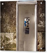 Old Phonebooth Acrylic Print by Carlos Caetano