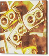 Old Photo Cameras Acrylic Print