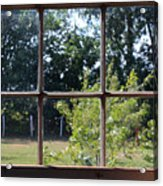 Old Pitted Glass Window Acrylic Print