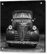 Old Plymouth Truck Square Acrylic Print