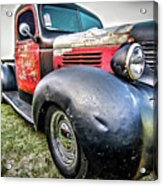 Old Plymouth Truck Acrylic Print