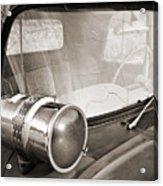 Old Police Car Siren Acrylic Print
