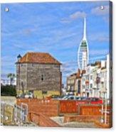 Old Portsmouth Flood Gates Acrylic Print