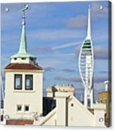 Old Portsmouth's Towers Acrylic Print