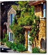 Old Provencal Village Street Acrylic Print