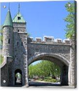 Old Quebec City Wall Quebec City 6358 Acrylic Print