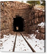 Old Railroad Tunnel Acrylic Print