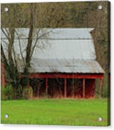 Old Red Barn In Jefferson County Acrylic Print