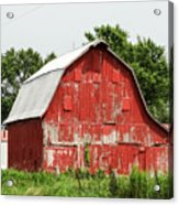 Old Red Barn Johnson County Ia Acrylic Print