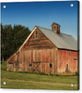 Old Red Barn Palouse Wa Dsc05067 Acrylic Print