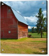 Old Red Big Sky Barn  Acrylic Print