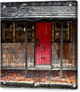 Old Red Door Acrylic Print