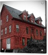 Old Red House In Shelburne Falls Acrylic Print