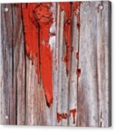 Old Red Paint Acrylic Print