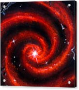 Old Red Spiral Galaxy Acrylic Print