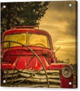 Old Red Truck Acrylic Print
